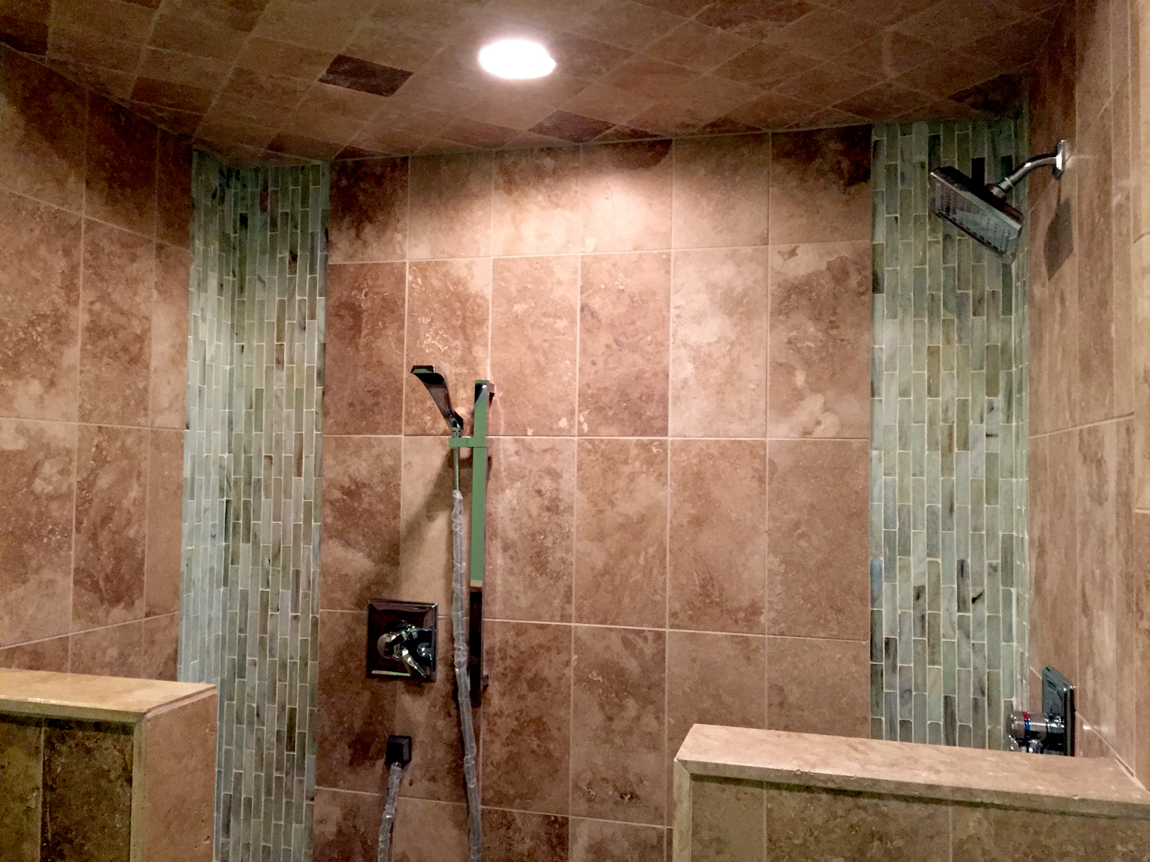 Fabulous Vertical Stripe Tile Shower – Complete Custom Tiling LA94